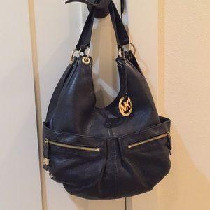 Michael Kors Black Leather large hobo shoulder bag